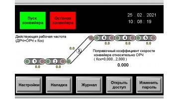 Управление системой взаимосвязанных конвейеров транспортировки готовой  продукции